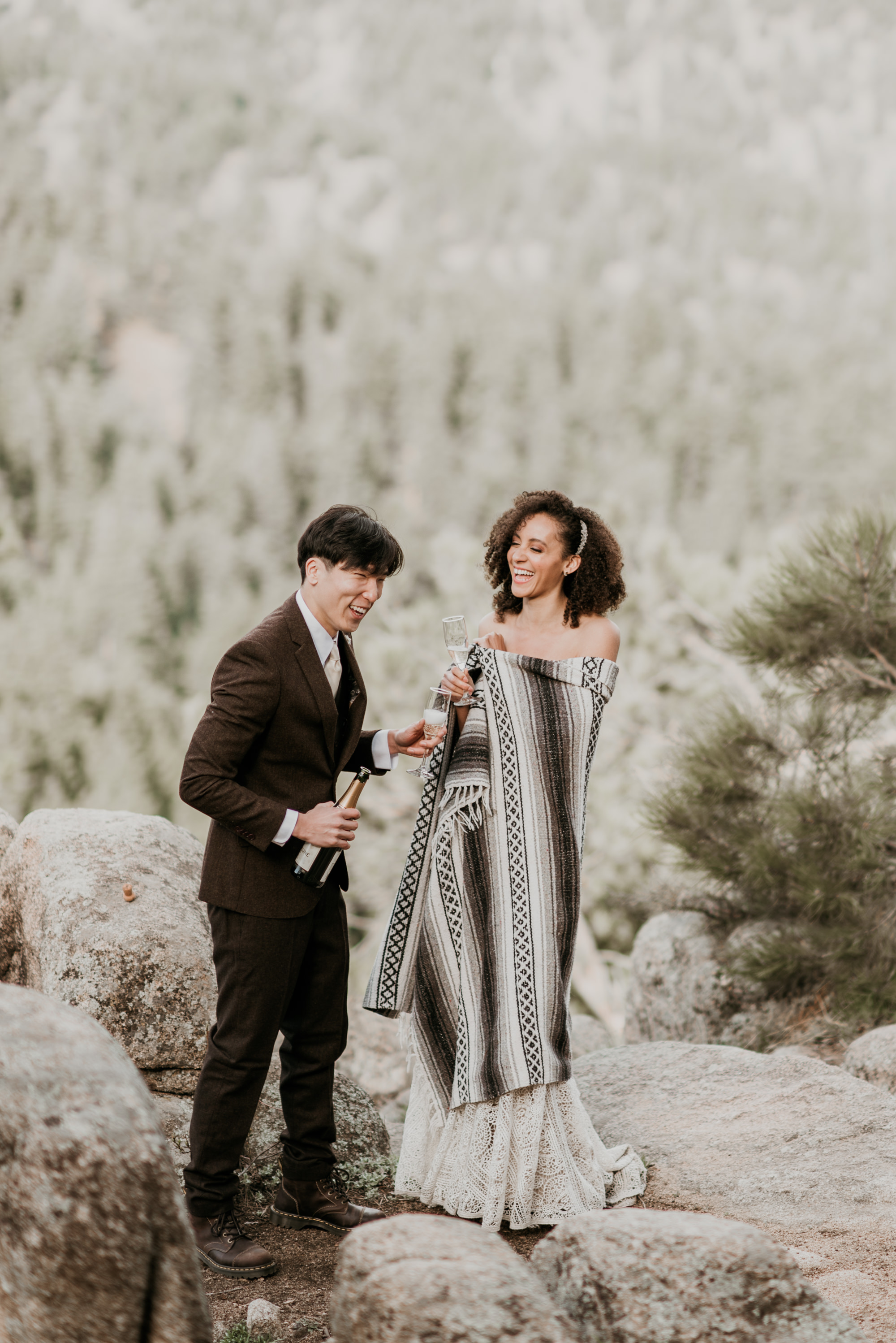 Spring wedding in Rocky Mountain National Park