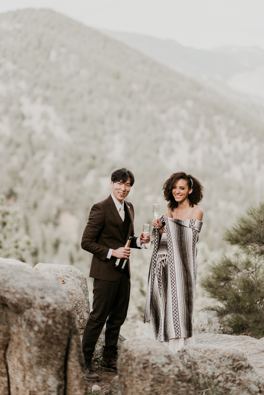 Spring wedding Estes Park, Colorado