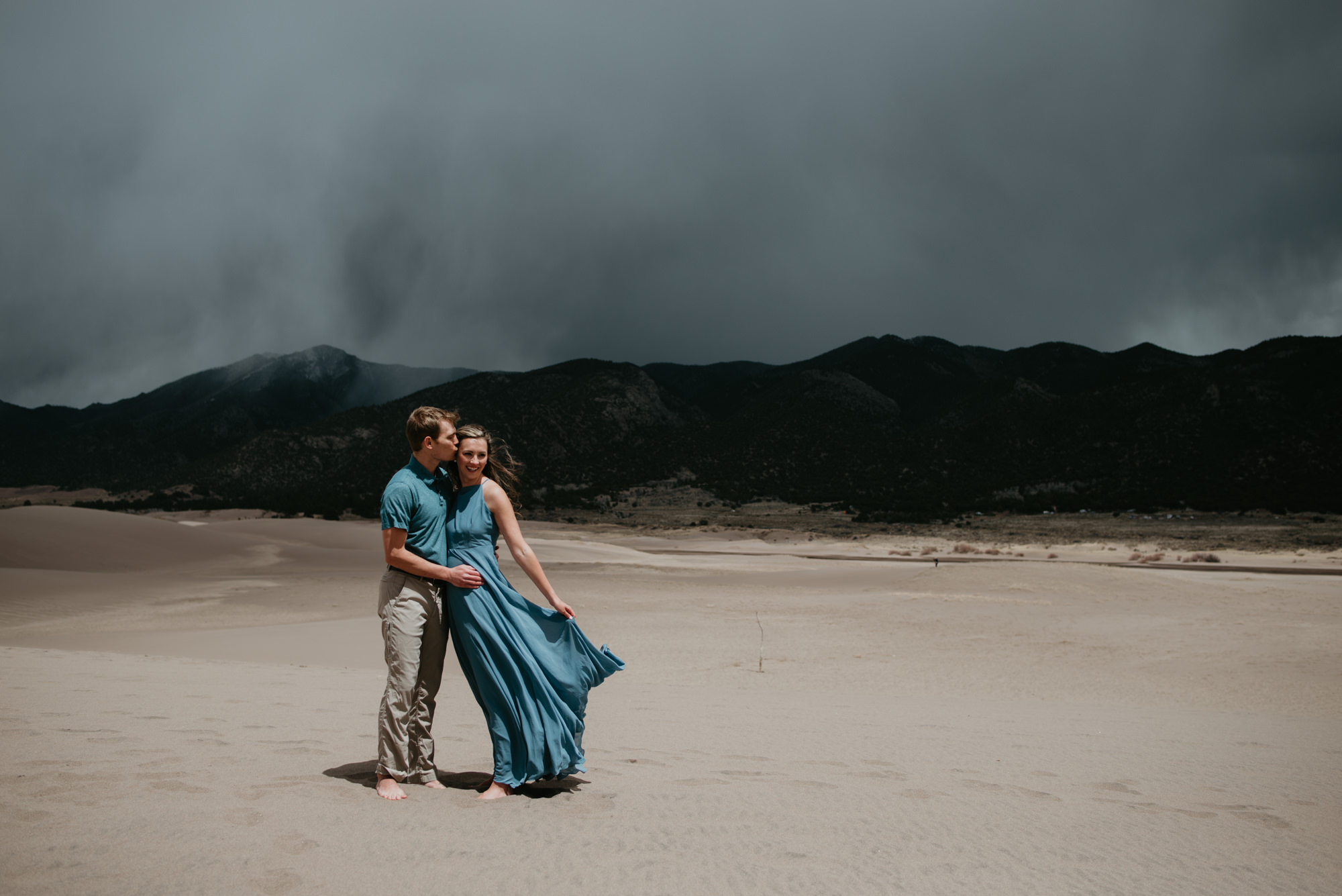 Brittany and Eric's Engagement Photoshoot at Great Sand Dunes National Park