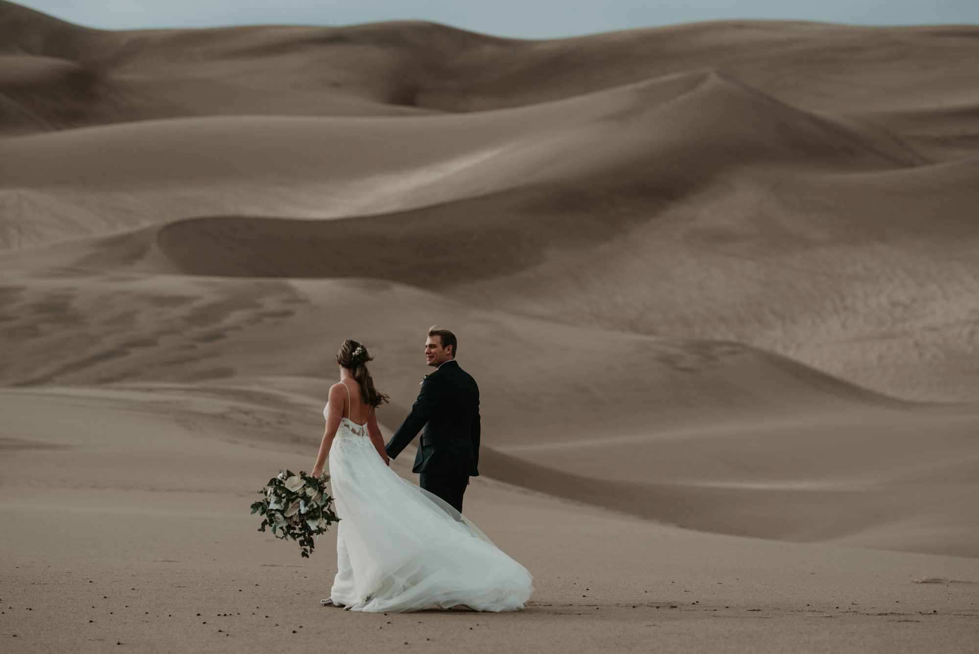 Brittany and Eric's Sand Dunes Elopement