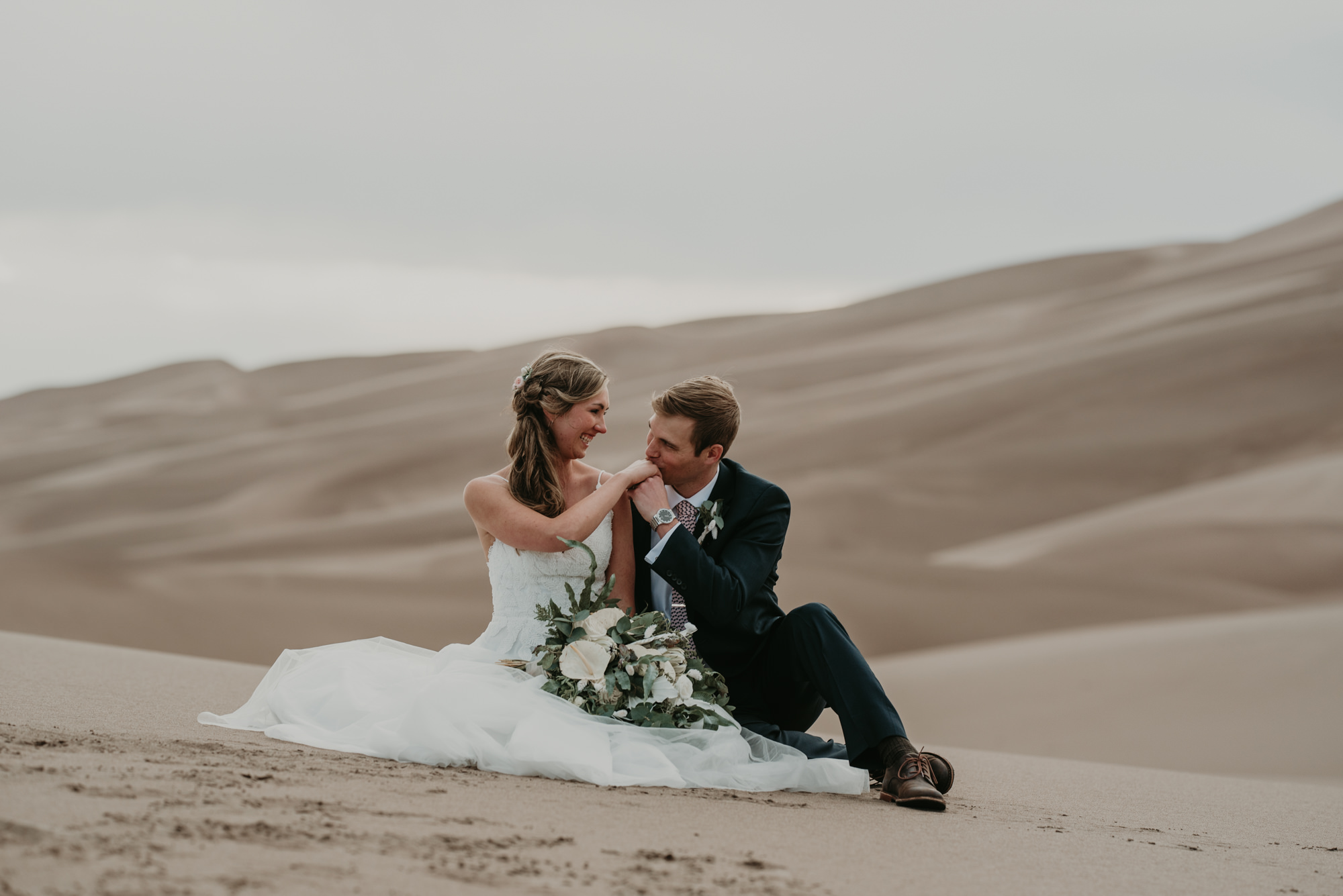 A sweet moment on the sand dunes.