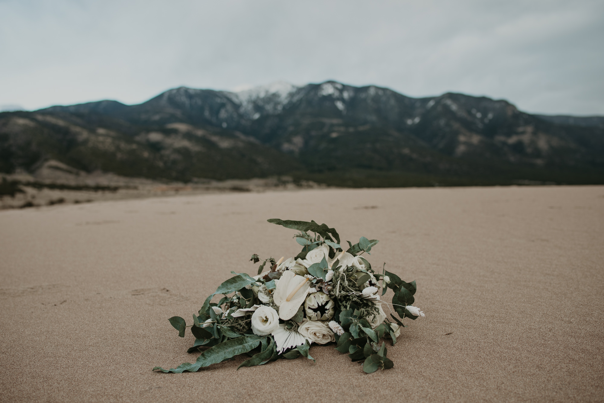 Wedding Flowers and the Sangre de Cristo mountains