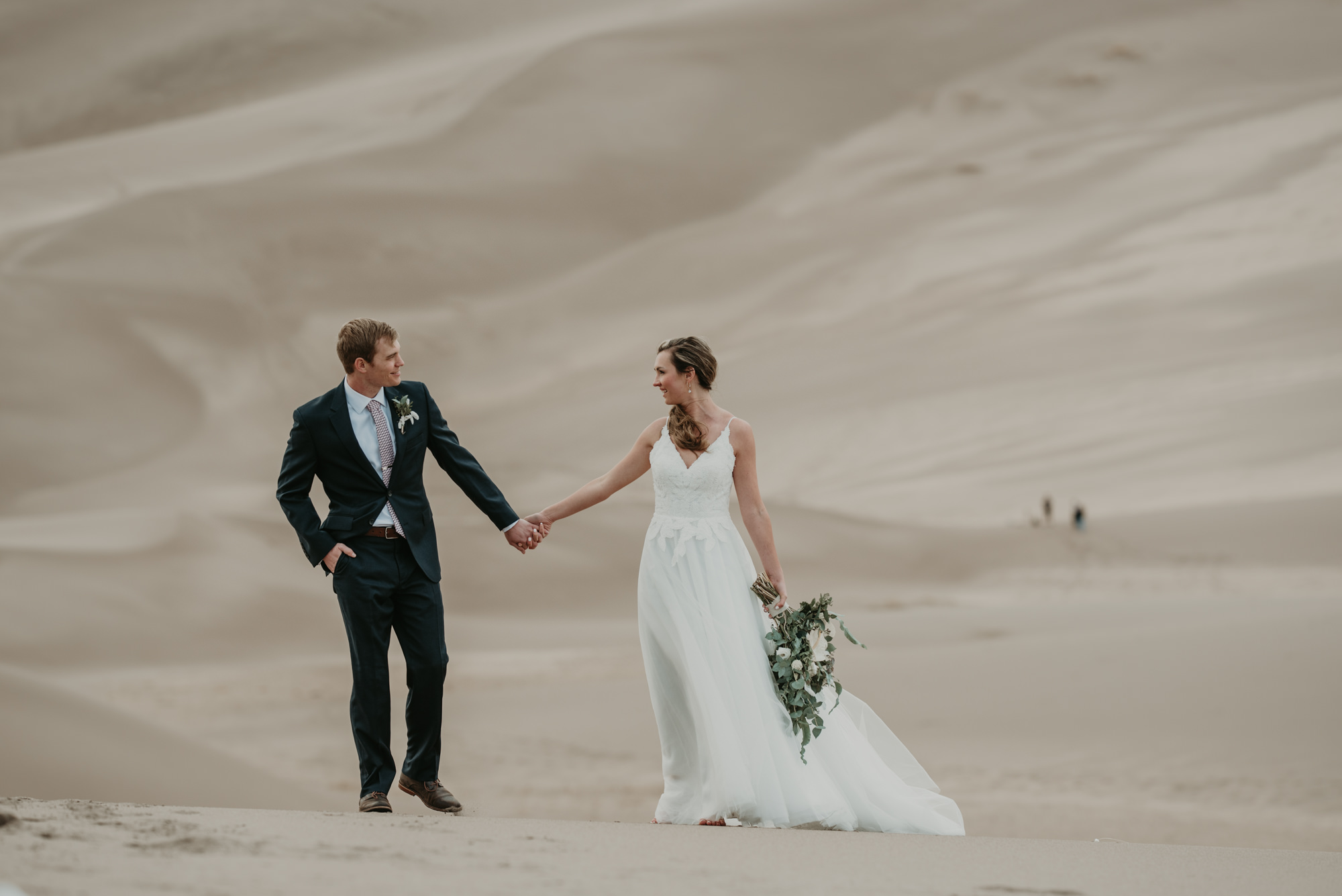 Small elopement wedding in Colorado.