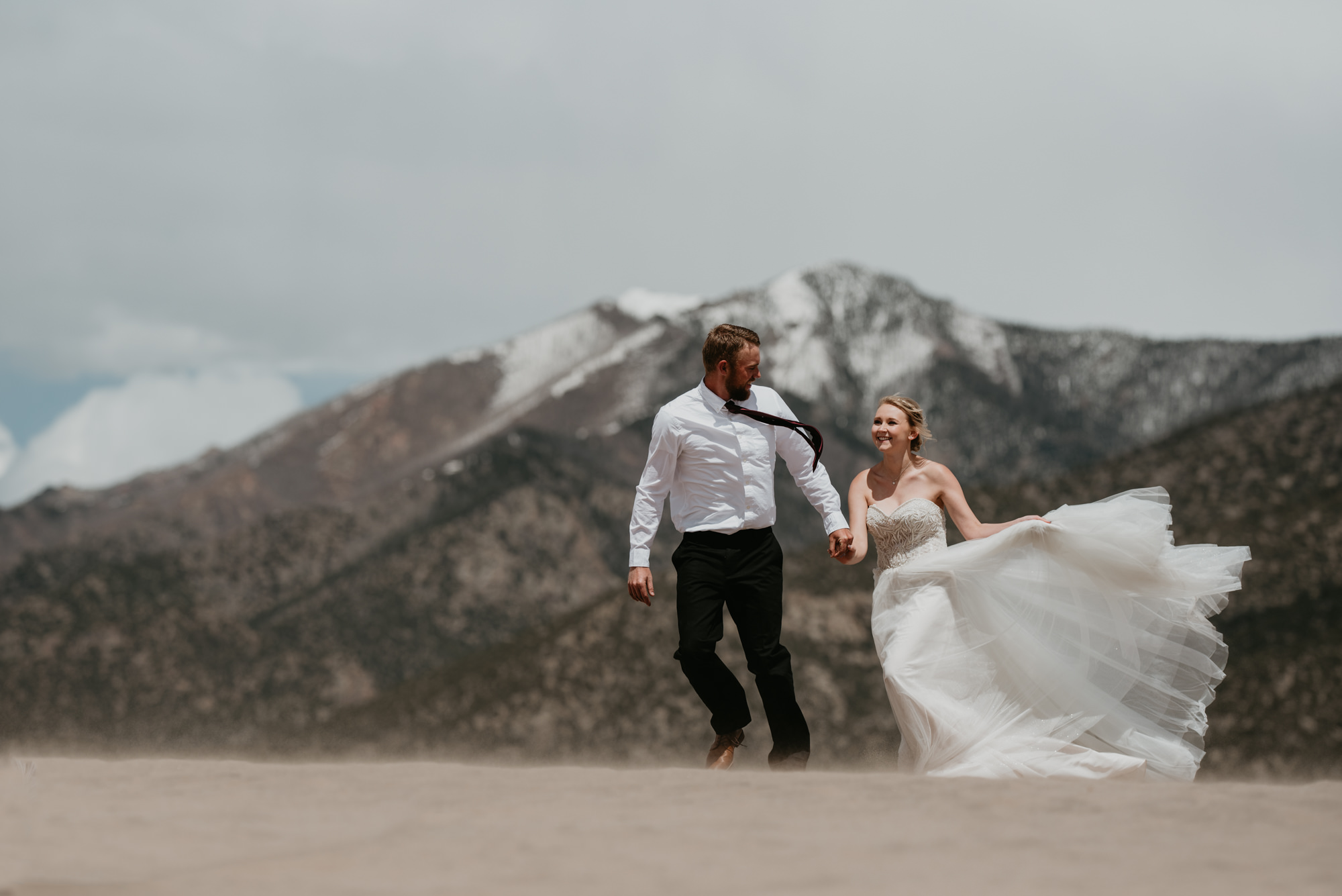 Colorado wedding ceremony outdoors in nature.