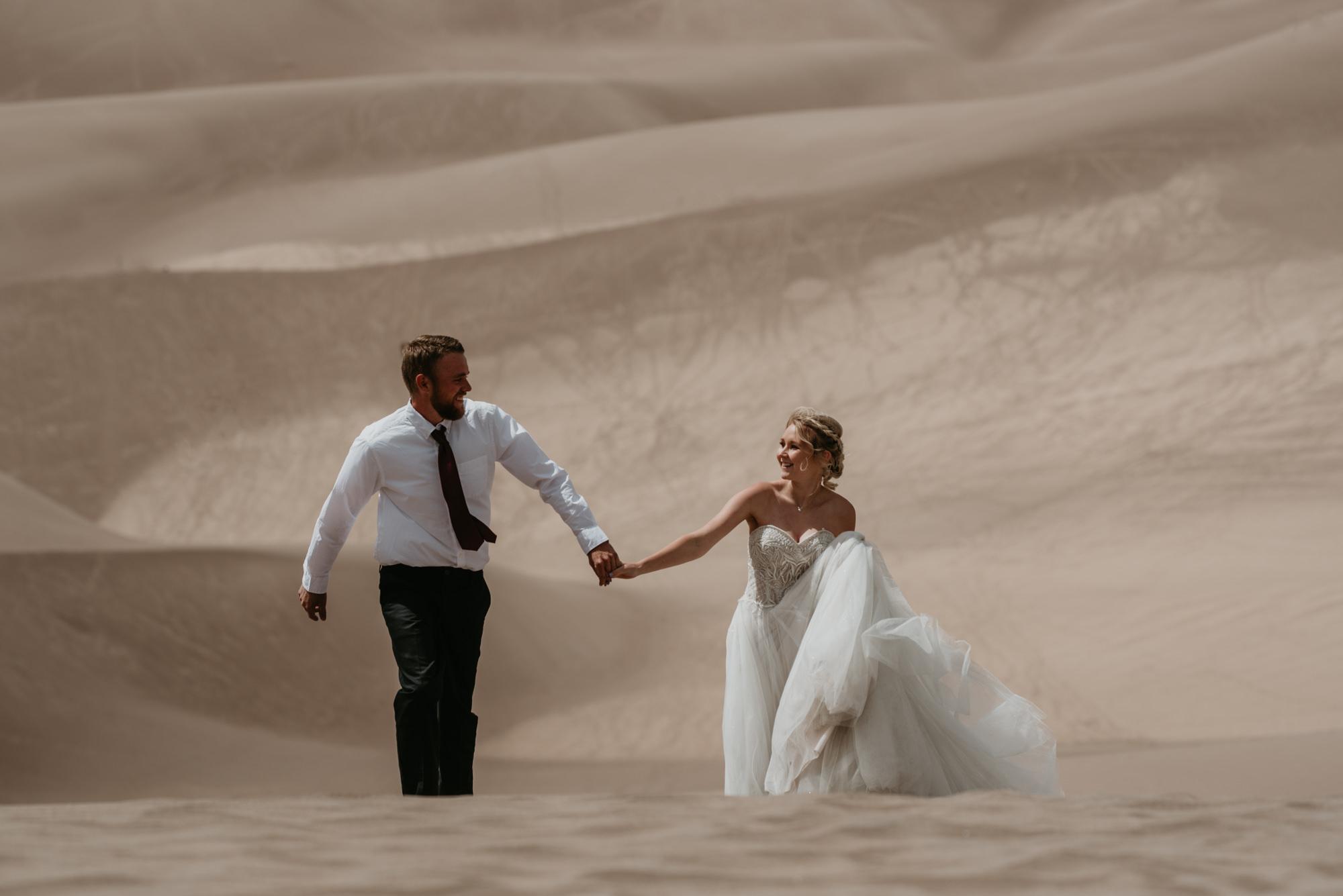 Great Sand Dunes Elopement photos.