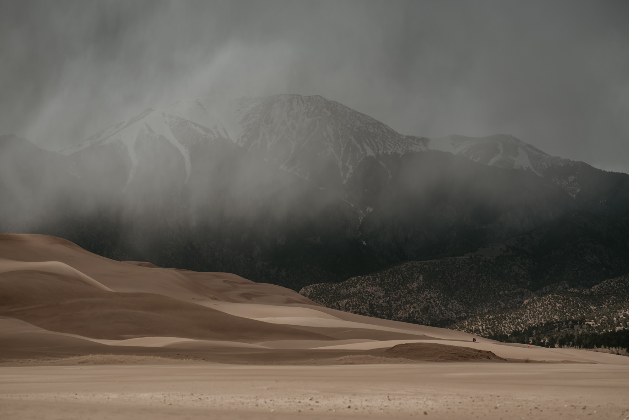 Stormy skies over Great Sand Dunes