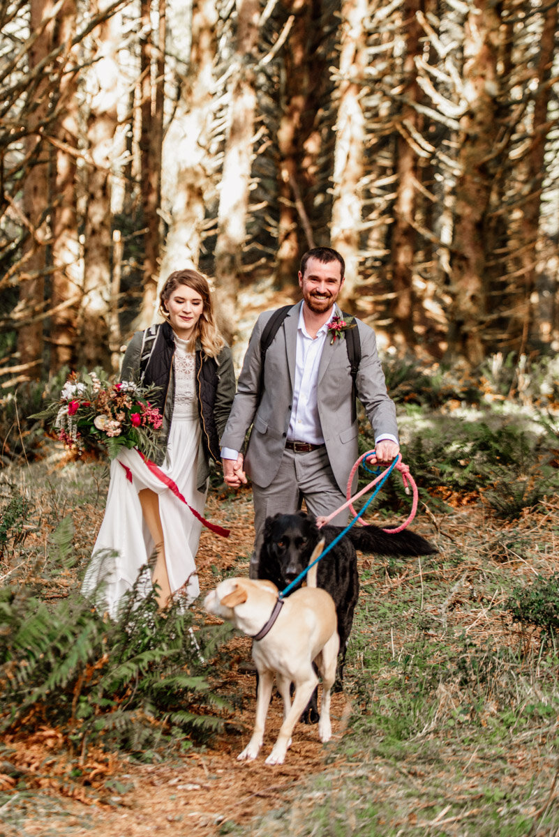 Always include your dog on your hiking elopement!