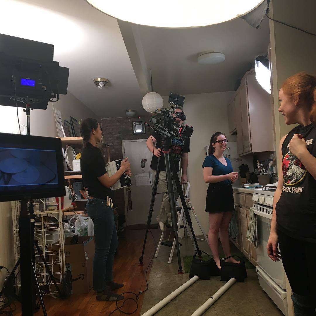 Behind the scenes on the set of the music video for OKAY (music + lyrics by Ally Reichard, orchestrations by Bobby Cronin)