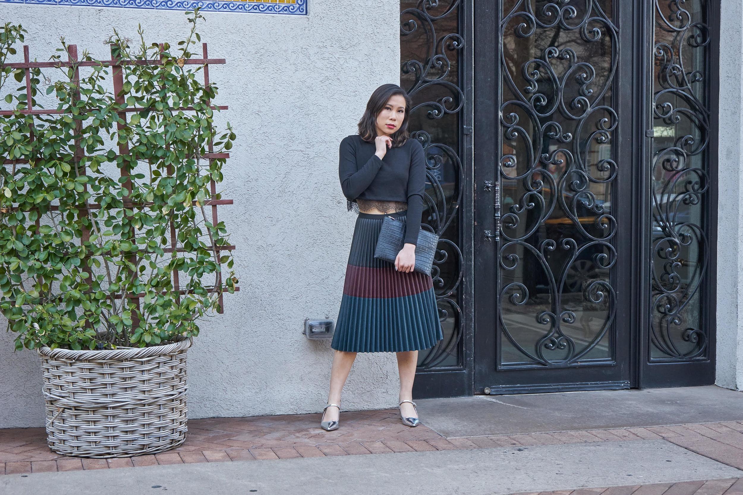 Kasey pleated multi color skirt.jpg
