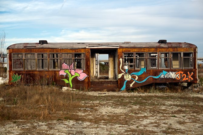 Abandoned Trolly Cars, Charleston SC
