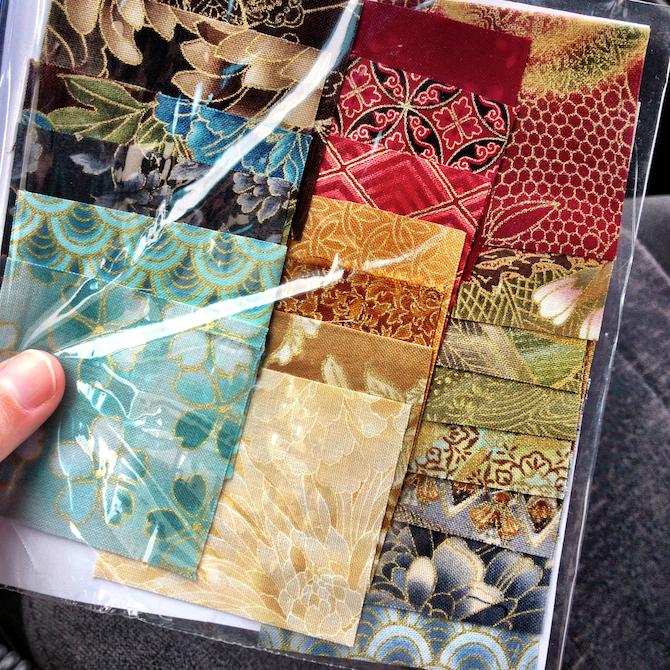 Hexagon paper pieced Asian Oriental Quilt