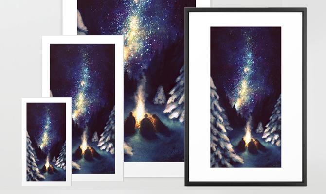 Stars in the Night Sky Print | NaomiVanDoren.com