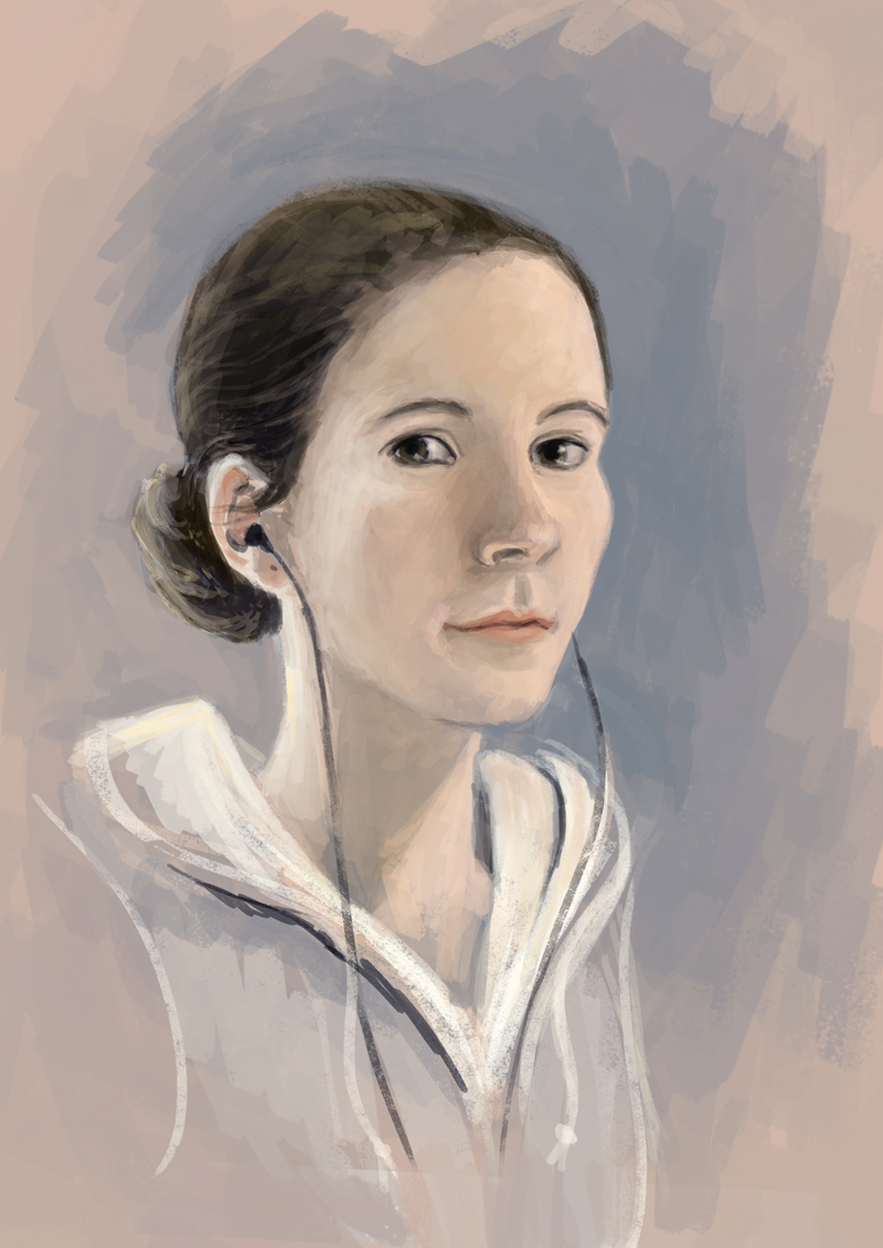 Self Portrait Week Artist Painting | NaomiVanDoren.com