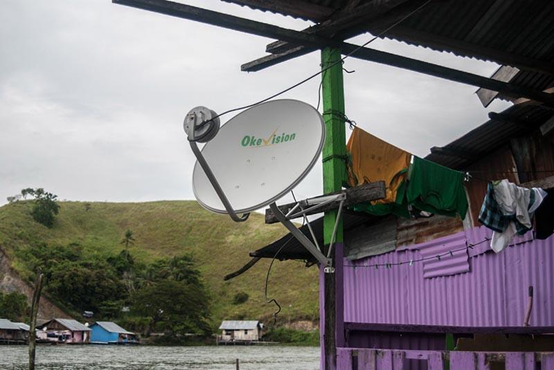 satelite dish lake sentani papua Indonesia Naomi VanDoren.jpg