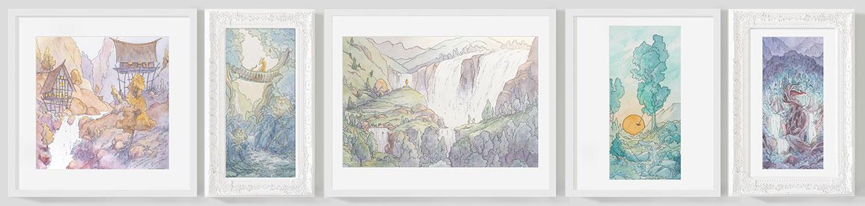 Naomi-VanDoren-Imaginary-Watercolor-Landscape