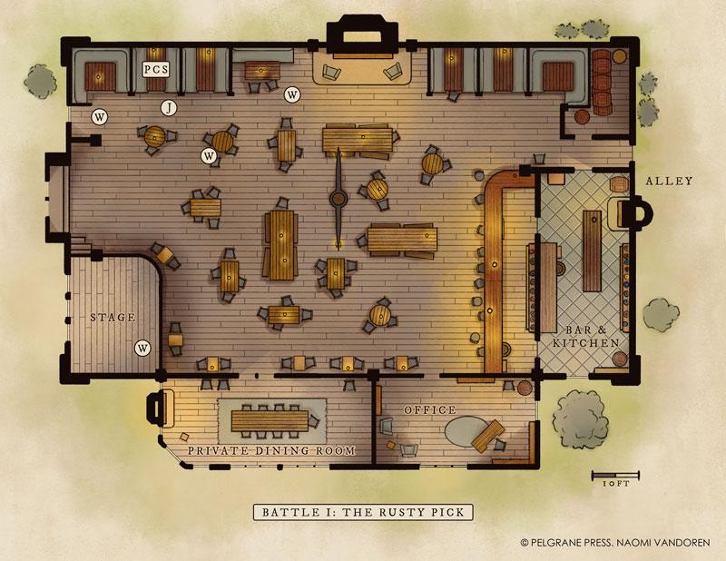 Pelgrane Press Dwarf King map naomi vandoren