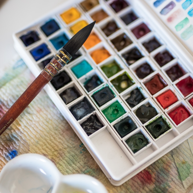 Art Supplies - Art tools & supplies that I love, use & recommendWatercolor paint brushes, watercolor paints in tubes and pans, watercolor paper, misc art tools that I use, and more!