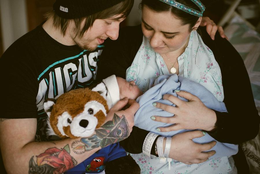 family in birthroom
