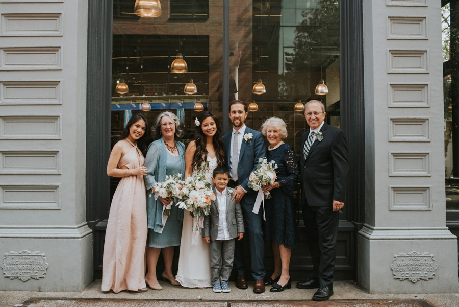 family formal for seattle elopement