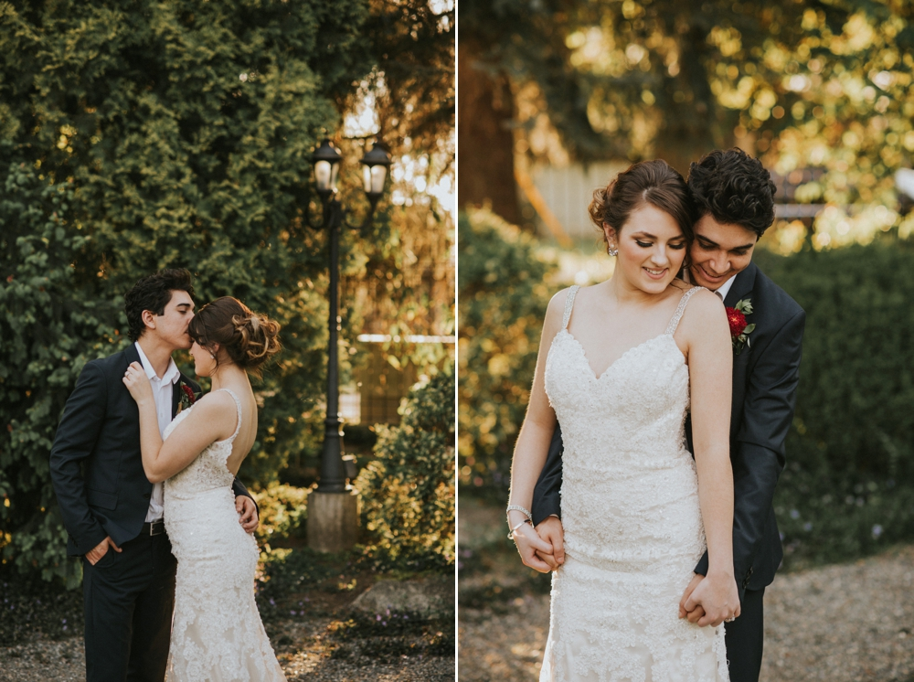 couple getting married at windmill gardens