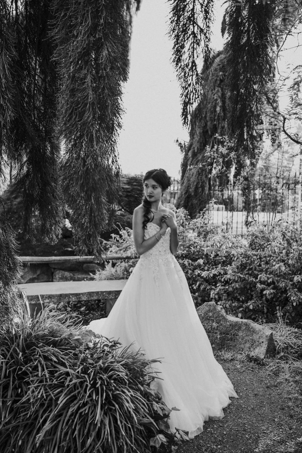 bridal elopement portrait