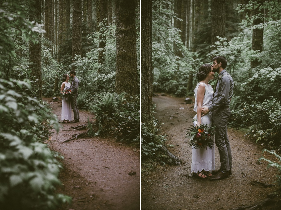 tacoma forest elopement photographer