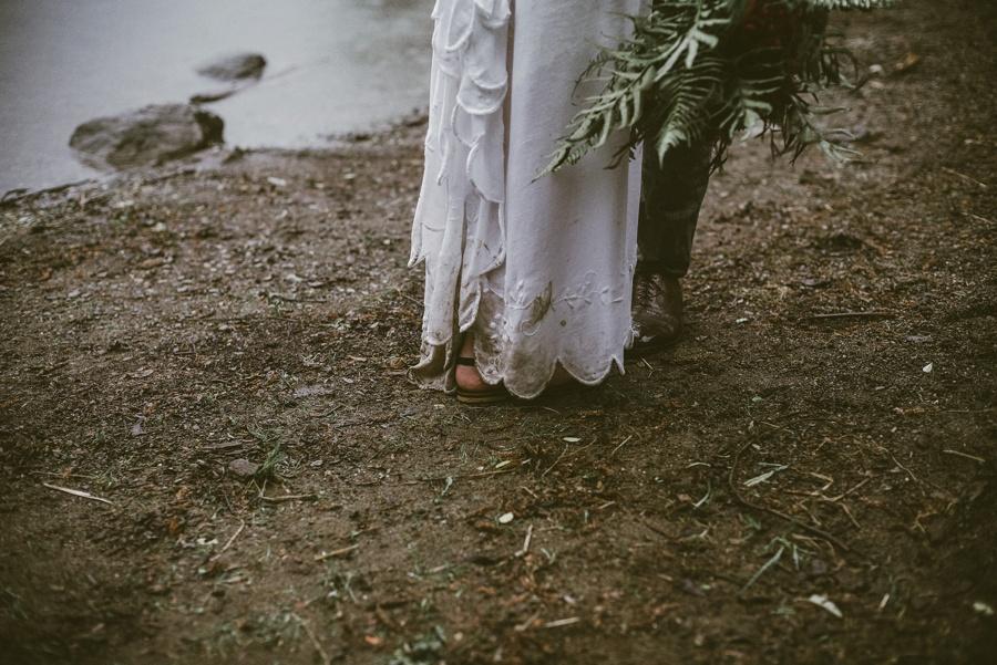 rainy pacific northwest elopement