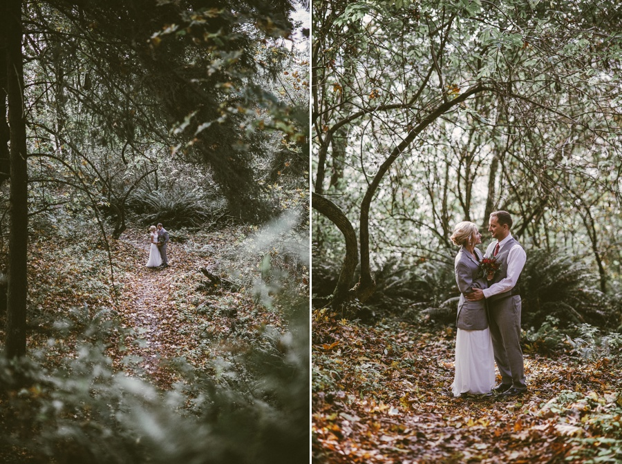 fall elopement on whidbey island, wa