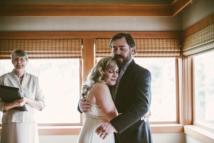 couple eloping at salish lodge