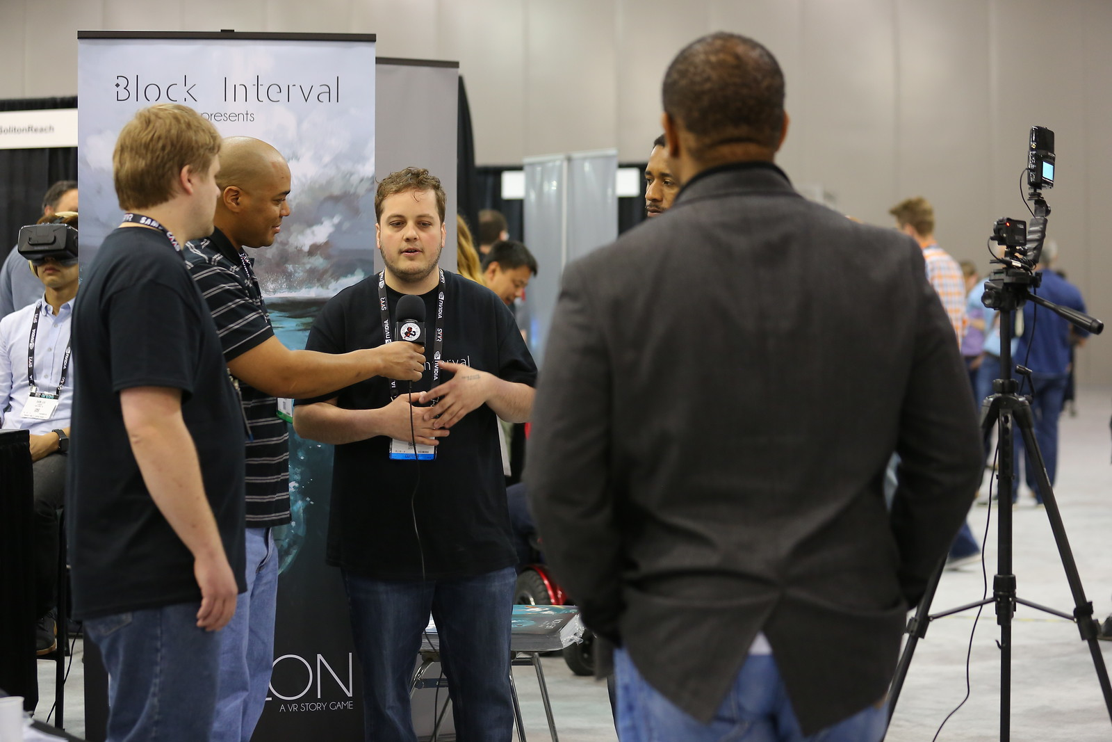 Giving an interview with some of the team at the Silicon Valley VR Expo