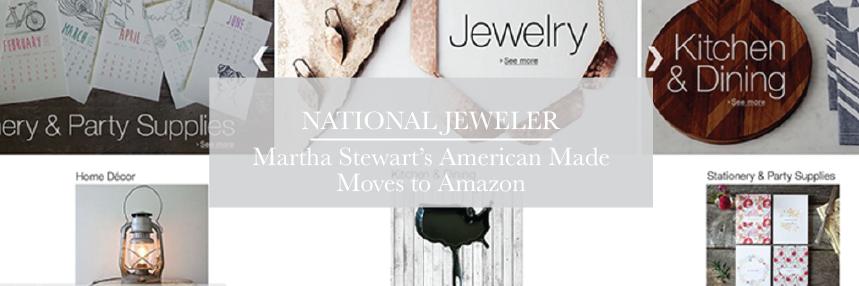 National Jeweler - Martha Stewart's Move