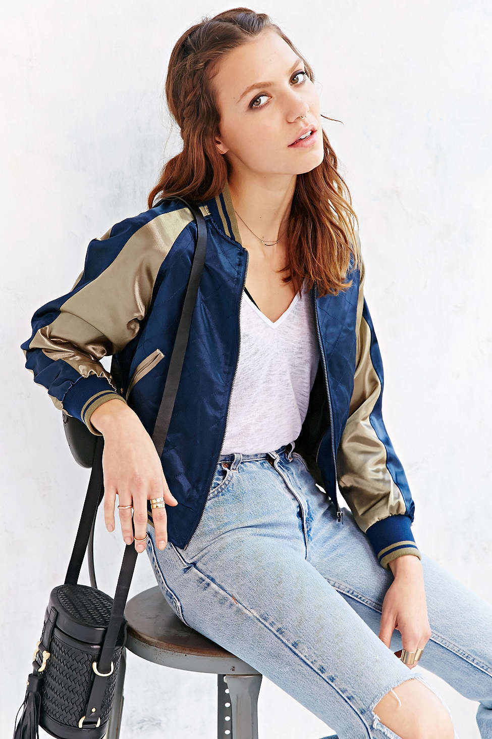 Members Only Satin Bomber // Polyester >> $88 - 30%