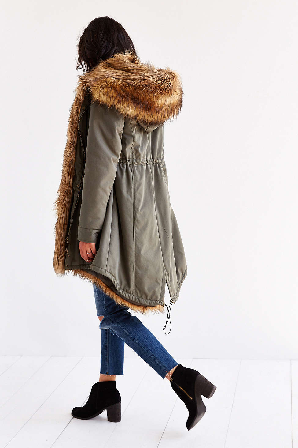 Members Only Faux-Fur Lined Parka // Cotton + Polyester >> $229 - 30%