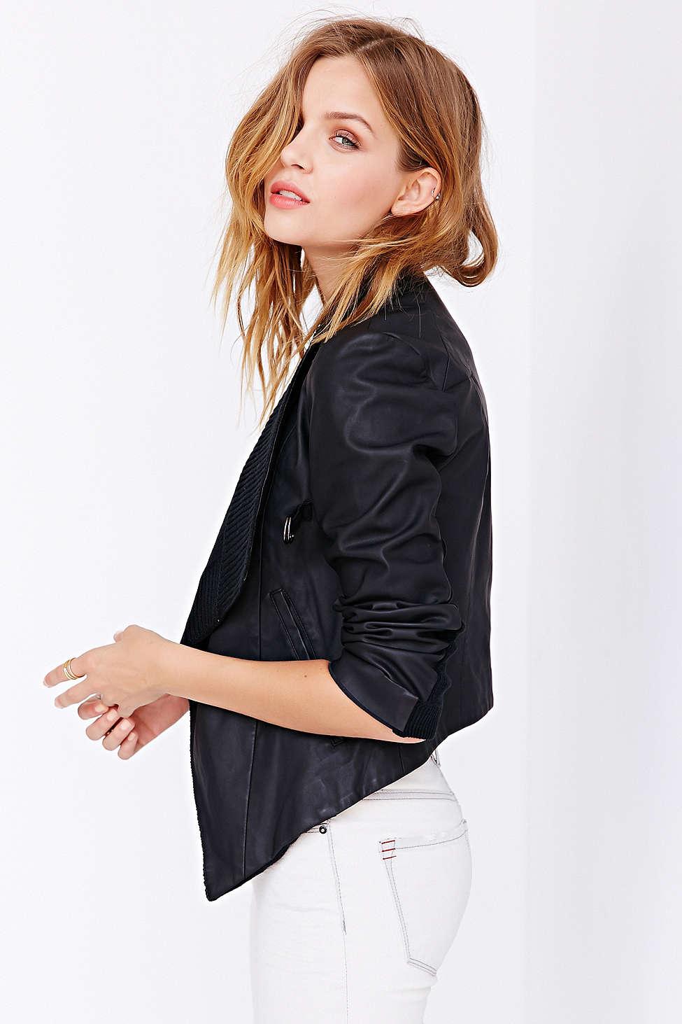 BB Dakota Tamela Vegan Leather Jacket // Polyurethane + Acrylic >> $109 - 30%