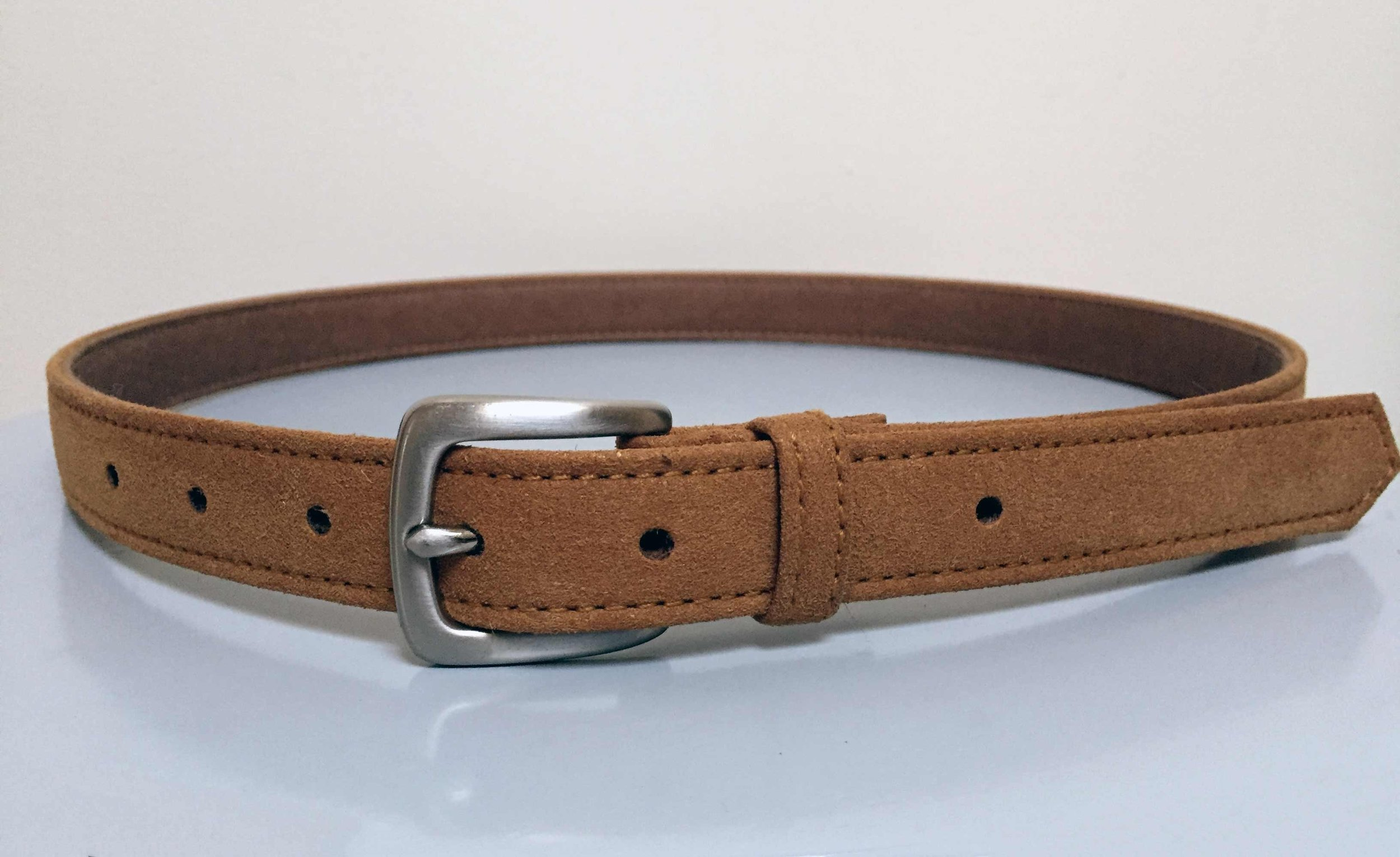 NEW YORK BELT- TAN FUTURE SUEDE $95.00