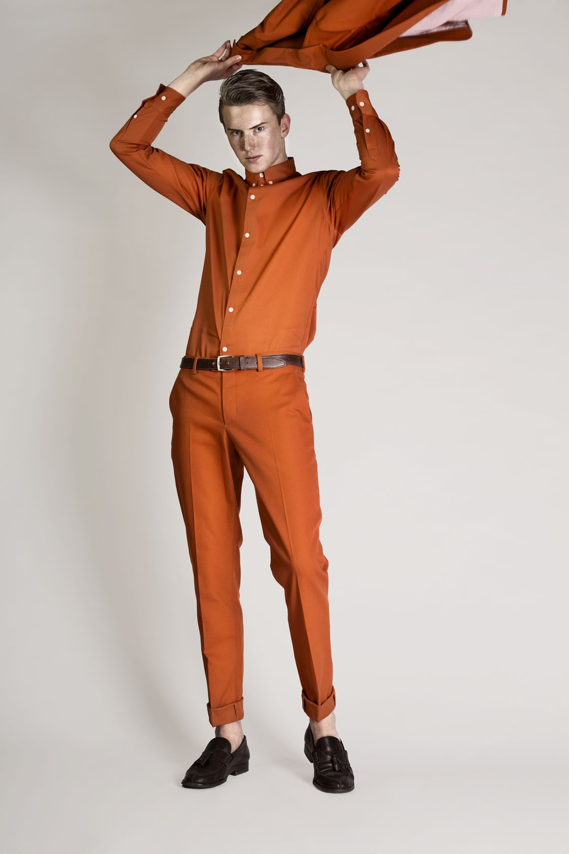 AARON TROUSERS- ORANGE $350.00