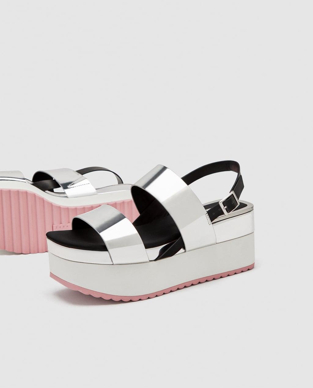 Platform Sandals w Silver Straps
