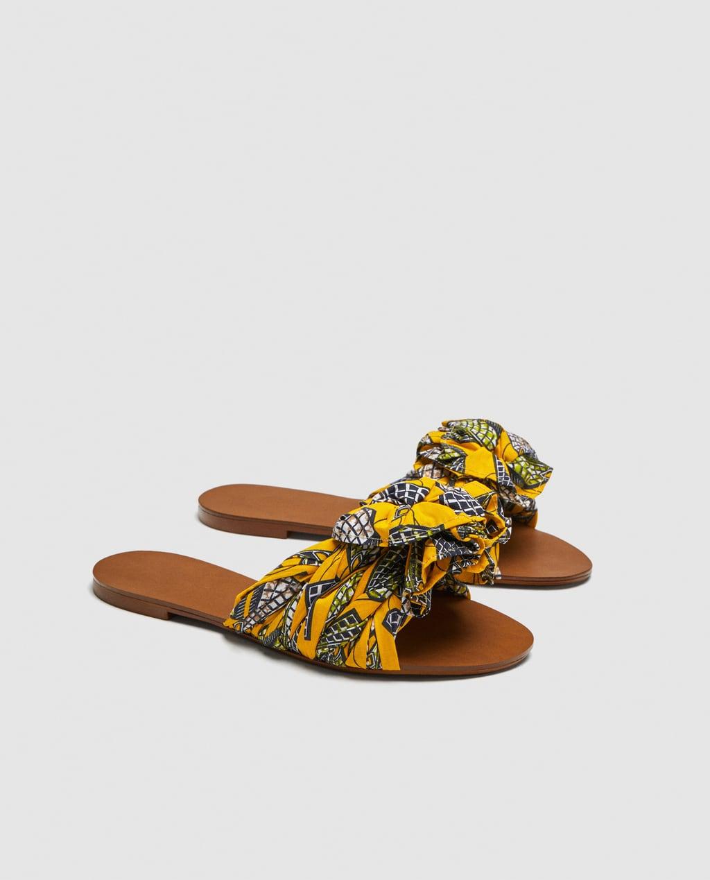 Printed Fabric Summer Slides