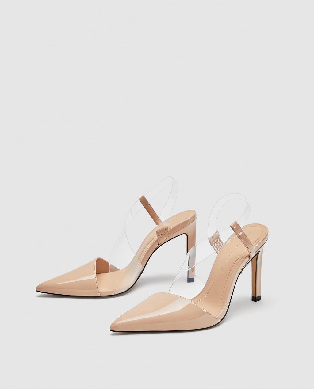 Vinyl Asymmetric Nude Heels
