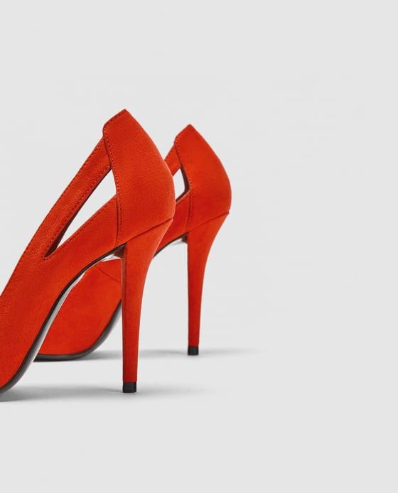 Orange High-Heels w Cut Out