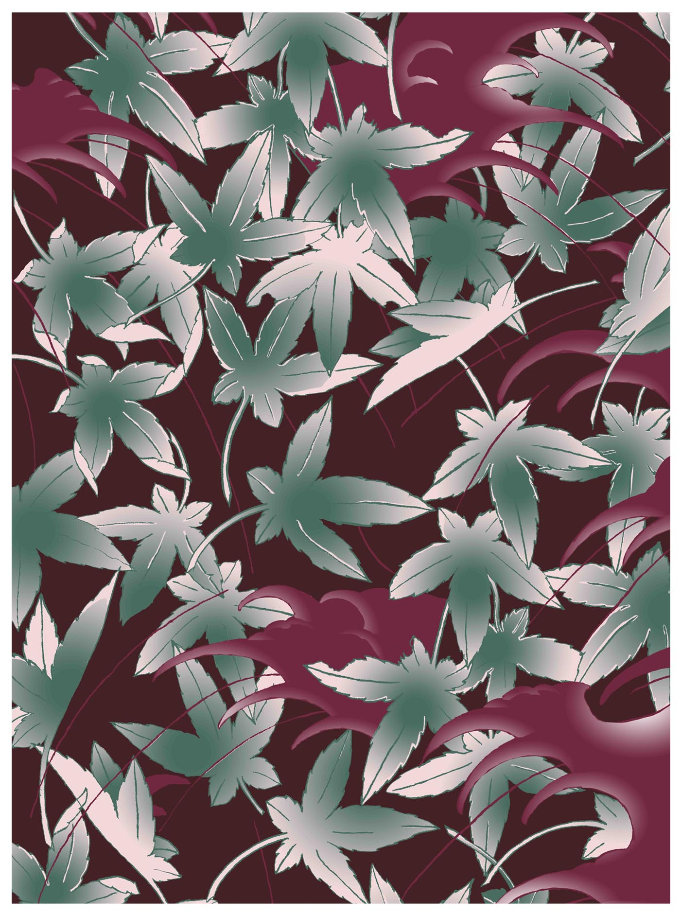 Wave & Maple Print - Horiyoshi The Third X Bella Gomez