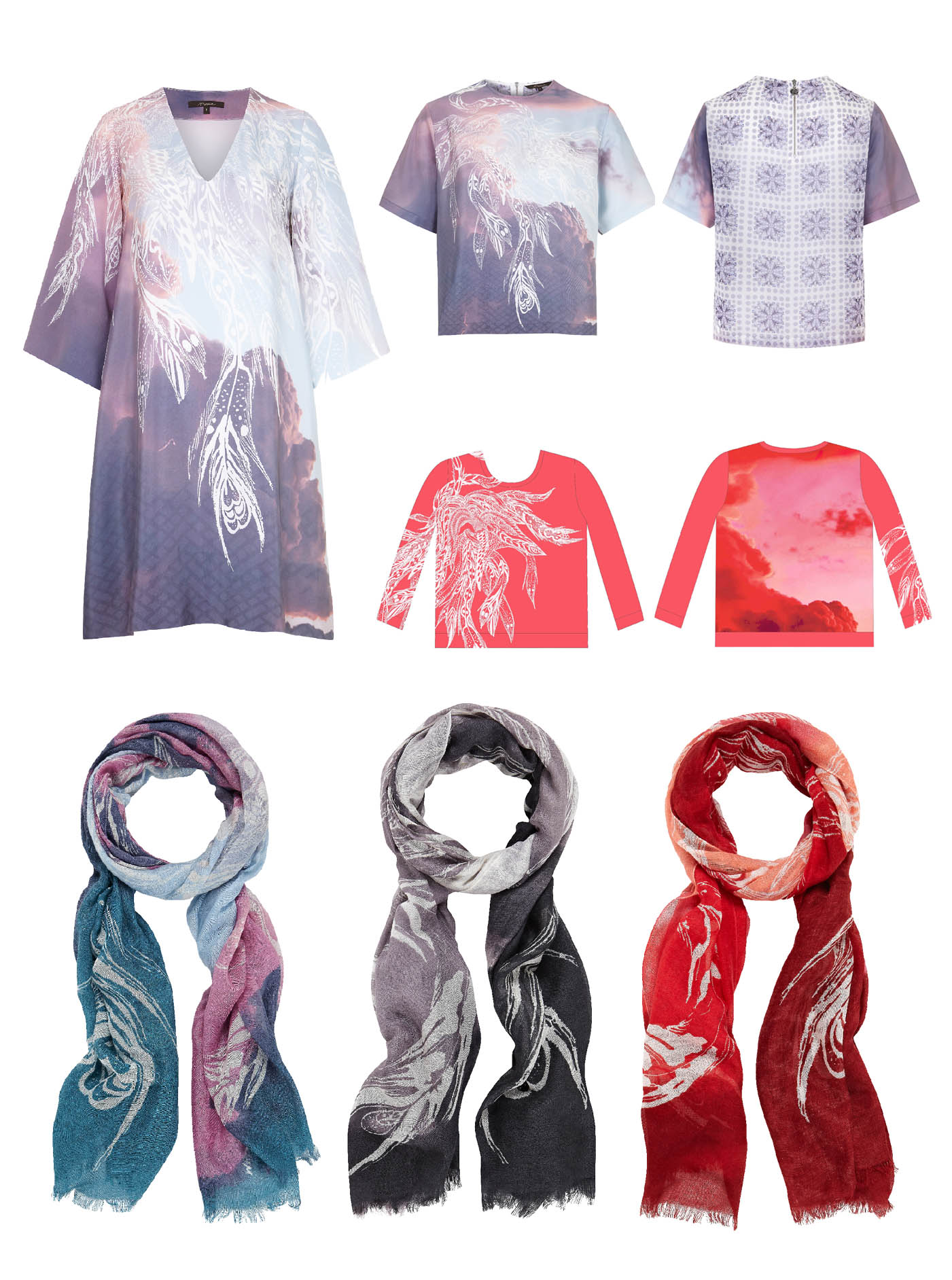 Phoenix Cloud Print- Horiyoshi The Third X Bella Gomez