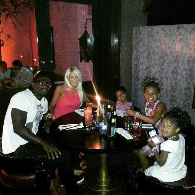 Mendy and his beautiful family. His wife and daughters: Mel, Kayna, Imane and Malila.