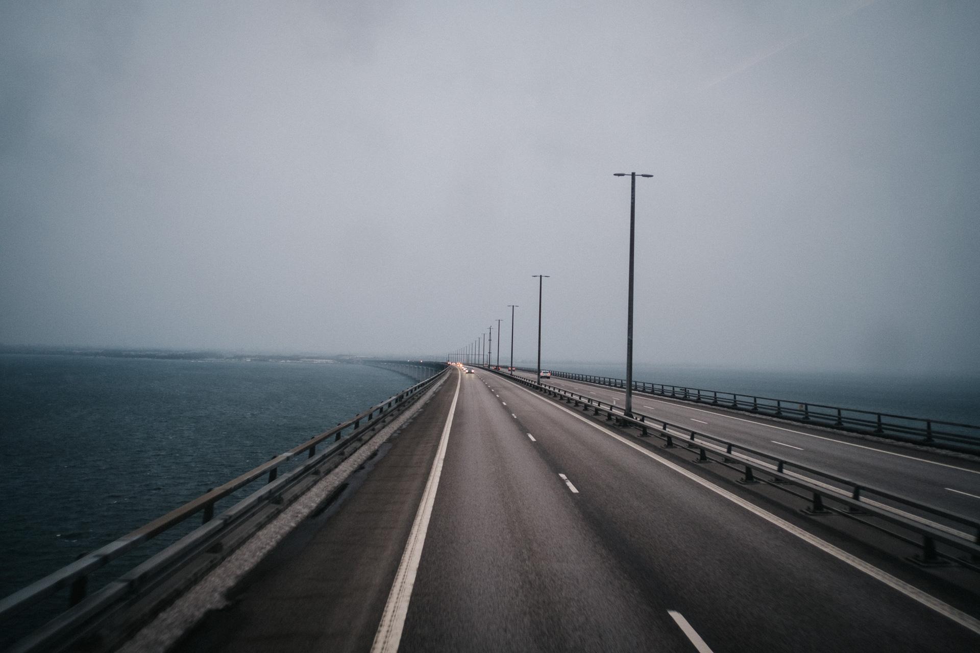 The bridge between Sweden and Denmark