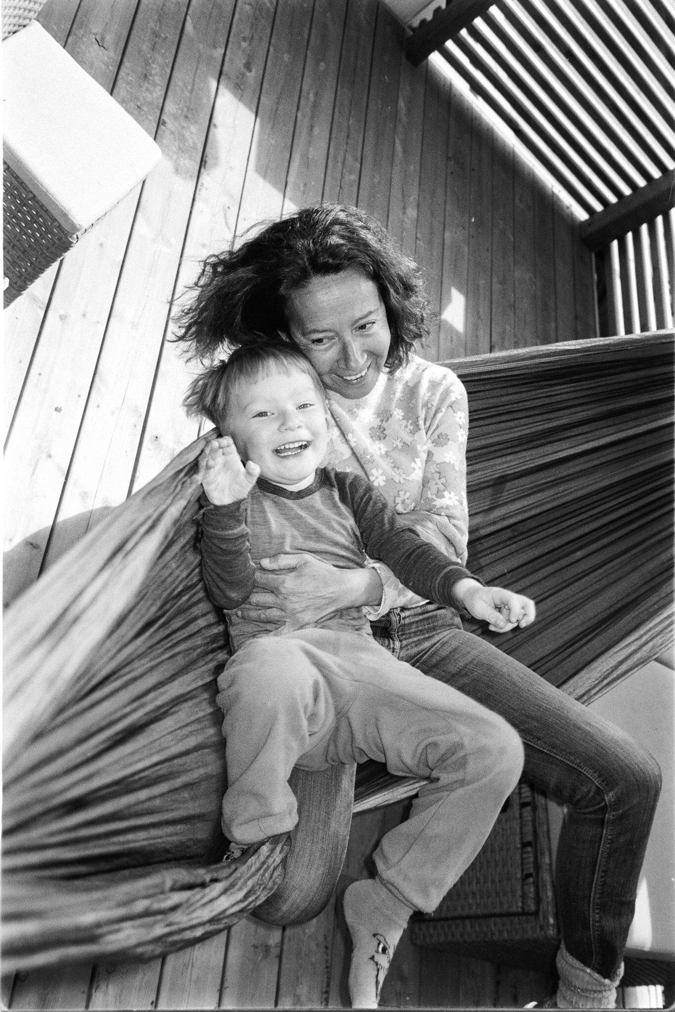 Mom and my nephew Nikolai