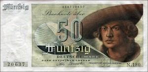 40 DMafter the reform(source:  http://www.rothenburg-unterm-hakenkreuz.de/waehrungsreform-1948-schlangestehen-fuer-40-deutsche-mark/ )