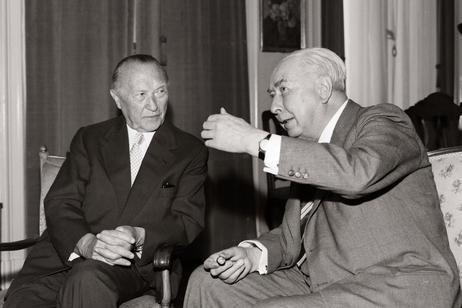 Theodor Heuss i Konrad Adenauer