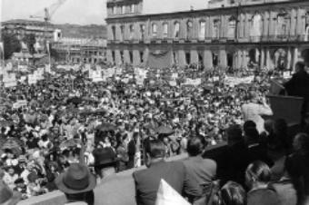 Protest of displaced Germans in August 1950, Stuttgart
