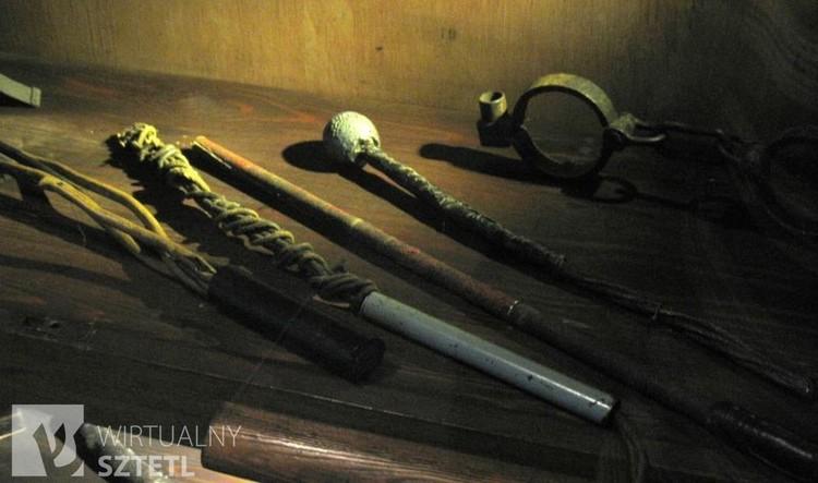 Tools of torture used by the Gestapo on Szucha Avenue, Warsaw (source:  muzeumniepodleglosci.art.pl/filia_muzeum_wiezienia_pawiak.php )