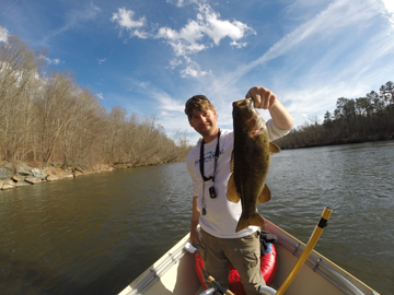 Smallmouth Bass Fly Fishing in Asheville, NC near Biltmore Estate.  02.23.15